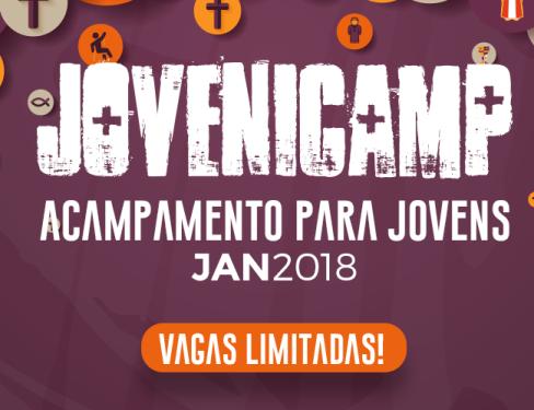 Férias + Amigos + Esportes + Lazer + encontro com Deus = JoveniCamp 2018